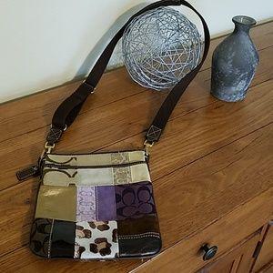 Coach patchwork crossbody small purse